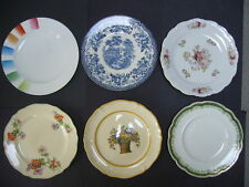 6 ANTIQUE DINNER DISHES ~ VINTAGE COLLECTION  ~ England Germany Wedgewood Saar