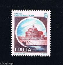 ITALIA IL FRANCOBOLLO CASTELLI D'ITALIA 5 LIRE SANT'ANGELO ROMA 1980 nuovo**