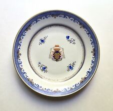 Antique Chinese Export Armorial Porcelain Plate Ecclesiastical Coat of Arms 9�