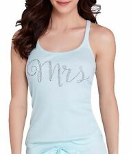 Betsey Johnson Bridal Party Mrs Jeweled Tank Top Light Blue Size X-Small NWT