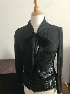New Escada Silk Blouse with Sequin Size 38