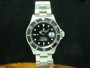 Rolex Submariner Edelstahl Automatic Chronometer Herrenuhr / Ref 16610