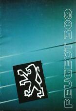 Peugeot 309 Sales Brochure  September 1989