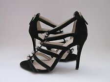 COACH Laila Black Suede Strappy Sandals Women's 5.5 Medium