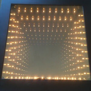 HPI Can You Imagine Infinity Mirror Excellent RARE Light Box Party Black Frame