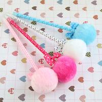 4Pcs Cute Ballpoint Pen Butterfly Plush Ball Originative School Stationery Gift