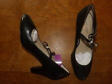 Marks and Spencer Women's 100% Leather Block Mid Heel (1.5-3 in.) Shoes