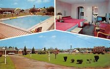 Aberdeen Maryland 1950-60s Postcard Tuckaway Manor Motel TV Swimming Pool