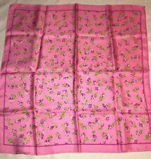 "Jones New York Pink Floral 21"" in. Silk Scarf"
