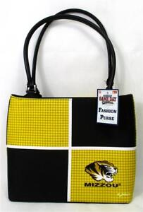 Mizzou Tigers Ladies Color Block Fashion Purse Missouri Handbag Game Day A-15