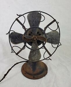 """Antique Vtg Early Electric 1917 Westinghouse Whirlwind Table Fan Style 280598 8"""""""