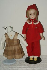 """PRETTY! Vintage 17"""" Debu'teen R&B Composition Doll With Cloth Body + Outfit"""