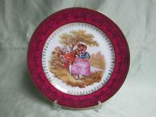 Assiette de décoration porcelaine LIMOGES scène de FRAGONARD rinceaux dorés