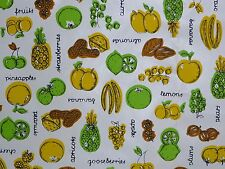 Vintage Mid Century Kwik Cover Adhesive Contact paper Kitchen Fruits and Veggies
