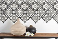 Temara 3 Layer Moroccan Tile Furniture Wall Floor Stencil For Painting