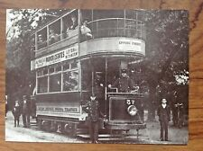 Postcard~Leyton Tramcar no 57 Whipps Cross Road c 1910 (1980 REPRO)