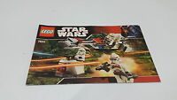 LEGO STARWARS  !! INSTRUCTIONS ONLY !! FOR 7655