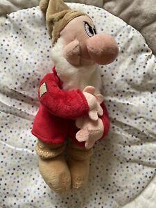 "grumpy plush teddy soft toy disney store snow white 10"" Dwarf"