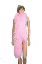 "Pink 12 ply luxury Ostrich Feather Boa 71""long (180 cm) Burlesque fancy"