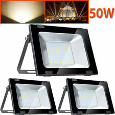 3 X 50W LED SMD Flood Light Warm White Outdoor Garden Yard Security Lamp 240V