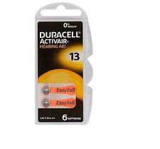 18 pile batterie per apparecchi acustici DURACELL ACTIVAIR mod 13 arancione PR48