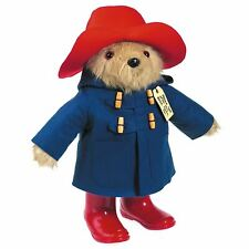 Large Traditional Paddington Bear Collectors Plush Toy - Vintage Style Rigid