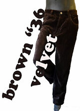 BROWN Velvet Chocolate Jean enyce faux suede pant enyce hip hop sean comb 36 mod