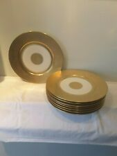 Set of 8 T K Thun Bavaria 24Kt Gold Encrusted Dinner Plates