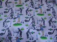 Golf Fabric Fat Quarter Size Unique Design Fabrics Crafting Golfing Sport Course