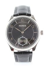 PARNIS Cuerda manual Seagull ST3620 elegante Reloj de hombre segundo pequeño