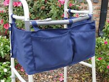 Walker Tote Bag Apron 4 BIG POCKETS Accessories *Made in USA**NEW*-Navy
