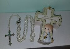 Precious Moments Boy Cross Shaped Box with Rosary First Holy Communion 644025