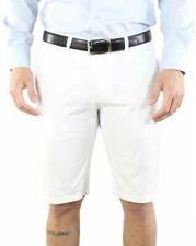 Bermuda da uomo chino bianchi in cotone