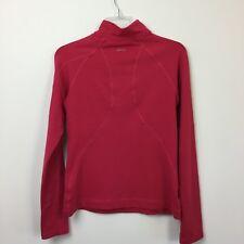 Ativa Womens Sz Medium Athletic Top Pink Mock Neck Long Sleeve Zip Pocket Shirt