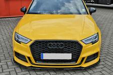For Audi A3 8 V Front Bumper Lip Cup Skirt Lower spoiler Chin Valance Splitter