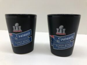 2 - New England Patriots 2018 Super Bowl 52 LII Champions Two Tone Shot Glass