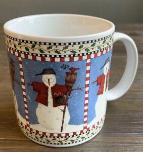 Debbie Mumm 'Snowman' Christmas Coffee Mug by Sakura EUC