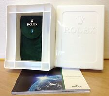 Rolex After Sales Service Box - Latest Style - With Green Suede Pouch & Booklet