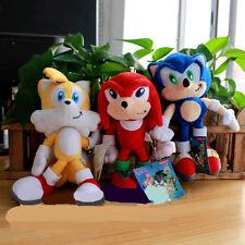 3pcs Sonic The Hedgehog SEGA Sonic Stuffed Plush Soft Doll Toy Set