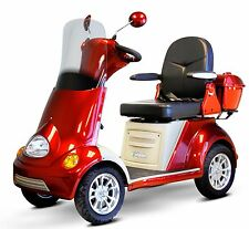 EWheels FAST Red EW-52 4 Wheel Mobility Scooter, Many Luxurious Features, Alarm