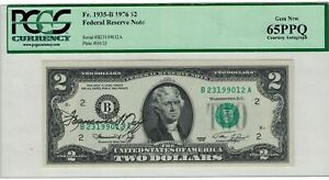 1976 $2 DOLLARS FEDERAL RESERVE NOTE SIGNED BY THE TREASURE OF THE United States