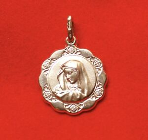 NEW 9ct Yellow Gold Medallion Virgin Mary Mother of Jesus 375 Religious Pendant