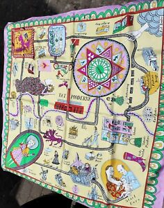 Tate Art GALLERY Grayson Perry Ltd Edit Large Scarf Rare Boxed pilots map