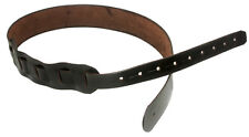 GUITAR STRAP CUSTOM HANDMADE LEATHER PLAIN BROWN BY AMERICAN HANDCRAFTED LEATHER