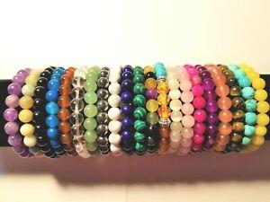 Natural Gemstone Stretch Bracelets UNISEX BUY 1 GET 1  AT 50% OFF USA SELLER!