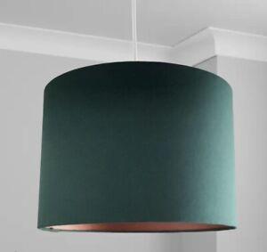 New HQ Stunning HQ Bronze Finish Matt Bottle Green Lamp Shade Pendant 30 Cm