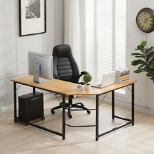 L-Shaped Desk Corner Computer Desk Workstation Home Office Desk CPU Stand