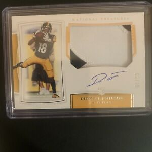 Diontae Johnson 2019 National Treasures RPA Rookie Patch Auto 4/99 Steelers