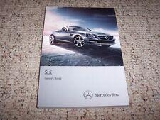 2014 Mercedes Benz SLK 250 350 55 SLK250 SLK350 SLK55 AMG Owner Operators Manual