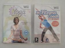 MY FITNESS COACH WII AND YOGA WII